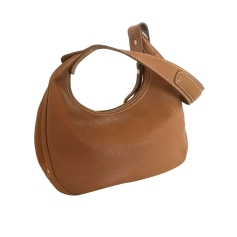 Leather Handbag LONGCHAMP Beige, camel