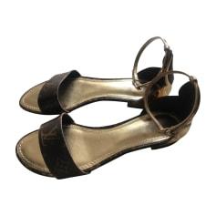 Flat Sandals LOUIS VUITTON or/marron