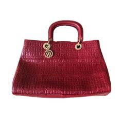 Leather Handbag TOMMY HILFIGER Red, burgundy