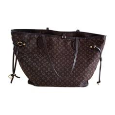 Non-Leather Handbag LOUIS VUITTON Neverfull Brown