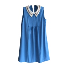 Midi Dress MIU MIU Blue, navy, turquoise