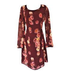 Midi Dress CACHAREL Red, burgundy