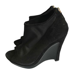 Wedge Ankle Boots FENDI Black