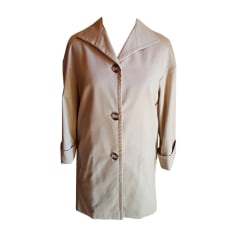 Coat YVES SAINT LAURENT White, off-white, ecru
