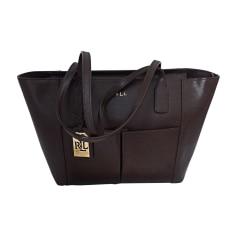 Leather Handbag RALPH LAUREN Brown