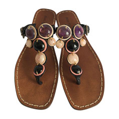 Flat Sandals MIU MIU Purple, mauve, lavender