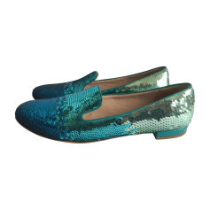Loafers MIU MIU Blue, navy, turquoise