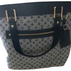 Non-Leather Handbag LOUIS VUITTON Louise Blue, navy, turquoise