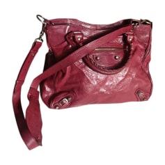 Leather Shoulder Bag BALENCIAGA Velo Pink, fuchsia, light pink