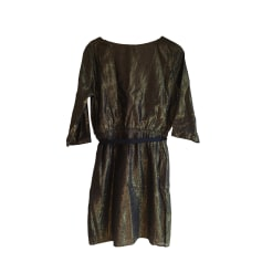Midi-Kleid DES PETITS HAUTS Gold, Bronze, Kupfer