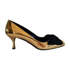 Pumps, Heels PRADA Golden, bronze, copper