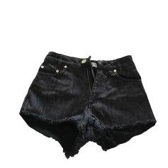 Calzoncino di jeans SANDRO Nero