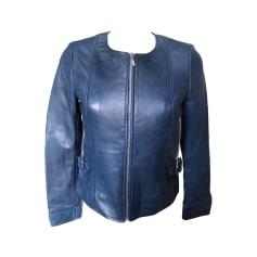 Veste en cuir 1.2.3. Bleu, bleu marine, bleu turquoise