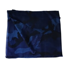 Scarf VALENTINO Blue, navy, turquoise