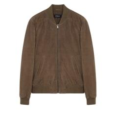 Leather Zipped Jacket BALIBARIS Brown