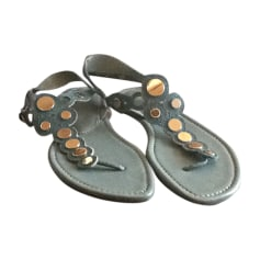 Flat Sandals SERGIO ROSSI Blue, navy, turquoise