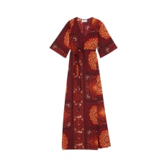Maxi-Kleid BA&SH Rot, bordeauxrot