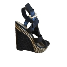 Wedge Sandals GUESS Black