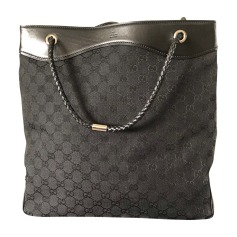 Leather Oversize Bag GUCCI Black