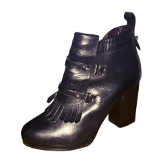 High Heel Ankle Boots VANESSA BRUNO Black
