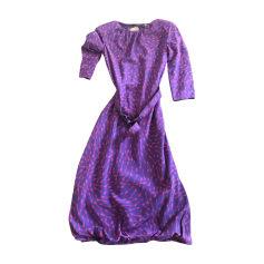 Robe mi-longue ALEXANDER MCQUEEN Violet, mauve, lavande