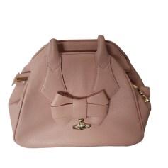 Leather Handbag VIVIENNE WESTWOOD ANGLOMANIA Pink, fuchsia, light pink