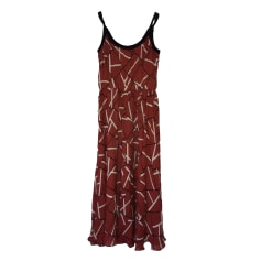 Midi Dress LONGCHAMP Red, burgundy