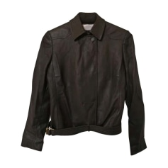 Leather Jacket VALENTINO Brown