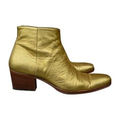 Boots DIOR Golden, bronze, copper