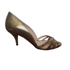 Sandali con tacchi PURA LOPEZ Dorato, bronzo, rame