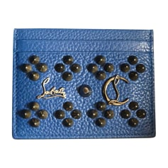 Card Case CHRISTIAN LOUBOUTIN Blue, navy, turquoise