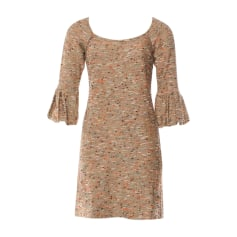 Mini Dress DIANE VON FURSTENBERG Golden, bronze, copper