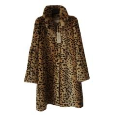 Fur Coat GERARD DAREL CHAMOIS NOIR CAMEL BEIGE