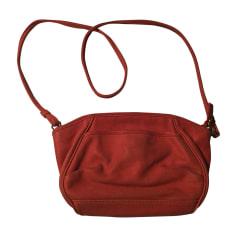 Leather Shoulder Bag VANESSA BRUNO Pink, fuchsia, light pink