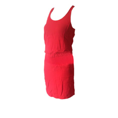 Backless Dress BA&SH Red, burgundy