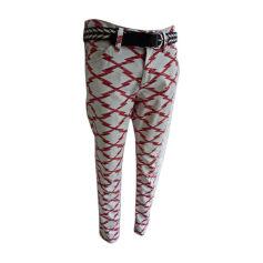 Skinny Pants, Cigarette Pants ISABEL MARANT ETOILE White, off-white, ecru