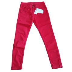 Skinny Pants, Cigarette Pants SANDRO Red, burgundy