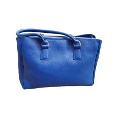 Sac à main en cuir LAMARTHE Bleu, bleu marine, bleu turquoise