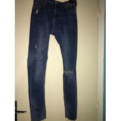 Jeans slim AMISU Bleu, bleu marine, bleu turquoise