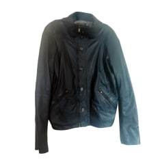 Leather Zipped Jacket DIESEL Gray, charcoal