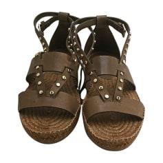 Sandales compensées JIMMY CHOO Kaki
