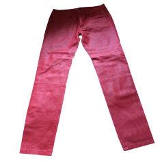 Pantalon slim, cigarette BEL AIR Rouge corail