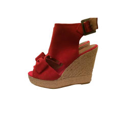 Wedge Sandals CLAUDIE PIERLOT Red, burgundy