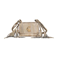 Leather Shoulder Bag ROBERTO CAVALLI Golden, bronze, copper
