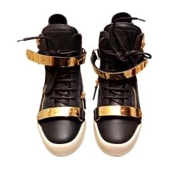 Glisser Sur Chaussures De Sport Pour Les Femmes En Vente, Noir, Velours, 2017, 37,5 Giuseppe Zanotti