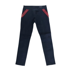 Pantalon slim, cigarette ALEXANDER MCQUEEN Bleu, bleu marine, bleu turquoise