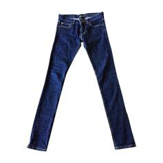 Jeans slim SAINT LAURENT Bleu brut