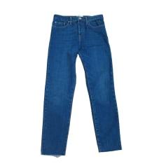 Jeans slim SÉZANE Bleu, bleu marine, bleu turquoise