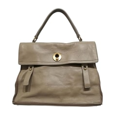Borsa XL in pelle YVES SAINT LAURENT Muse Two toupe