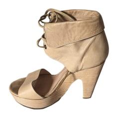 Sandales à talons CHLOÉ Beige, camel